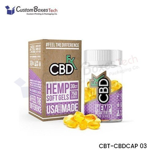 Custom CBD Capsules Boxes