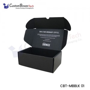 Black Mailer Packaging Boxes - CustomBoxesTech