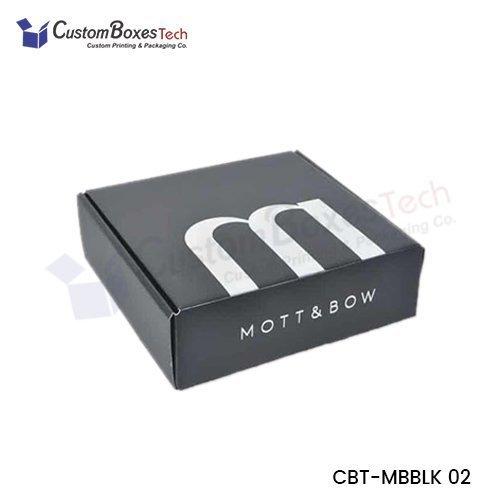 Custom Black Mailer Boxes