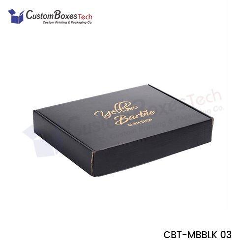 Custom Black Mailer Packaging