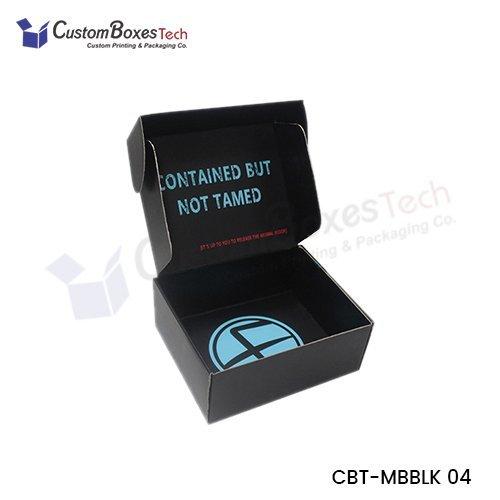 Custom Black Mailer Packaging wholesale