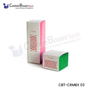 Custom Cream Packaging Boxes Wholesale