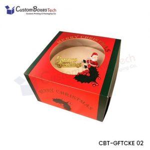 Custom Christmas Cake Packaging Boxes