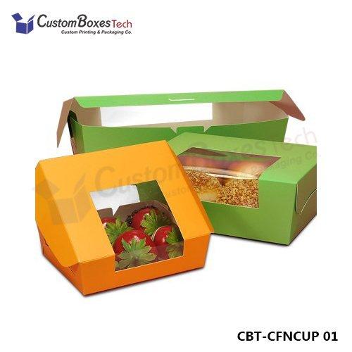 Custom Cupcake Packaging Boxes Wholesale