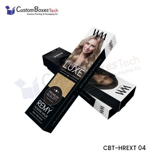 Custom Hair Extension Packaging Boxes