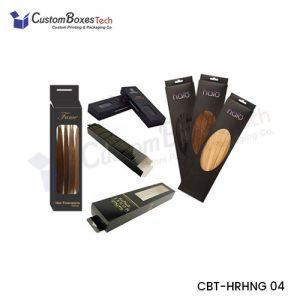 Custom Hair Extensions Hanger Packaging Boxes