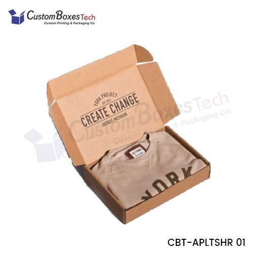 Custom T-Shirt Packaging Boxes Wholesale