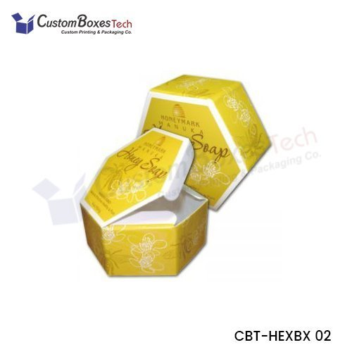 Custom Cosmetic Hexagon Packaging Boxes