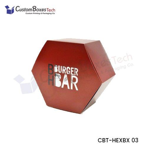 Custom Cosmetic Hexagon Boxes
